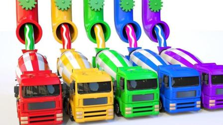 工程车系列搅拌车玩具运载染料
