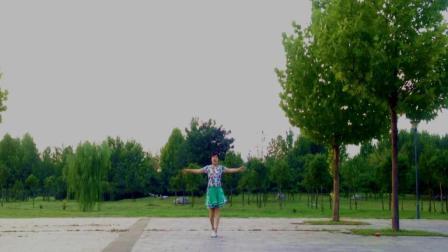 梦娟广场舞《八百里洞庭我的家》单人版