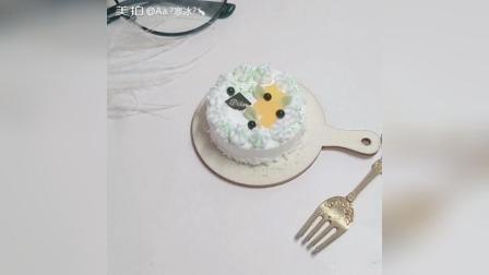 抹茶芒果粘土蛋糕
