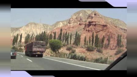 青海 甘肃自驾游(6)甘肃兰州市至青海塔尔寺: 沿途很多裸山色彩斑斓