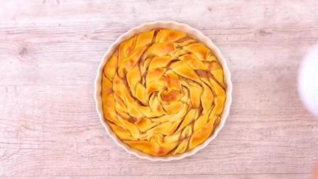 在家自己也能做的美味苹果奶香蛋糕, 看着就很好吃