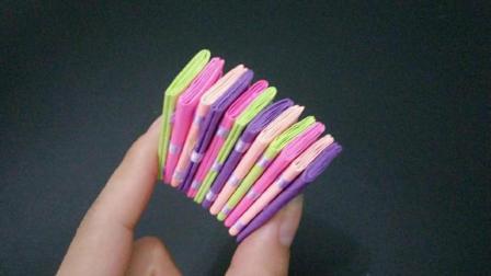 又一款简单好玩的魔术翻折纸玩具, 这又是什么原理? 小朋友很喜欢