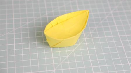 简单又好看的元宝折纸, 一张纸就能折出来, 手工折纸视频教程