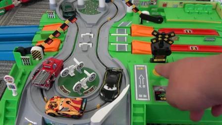 托马斯小火车 玩具分享英语 16 thomas friends railway big green railroad cross
