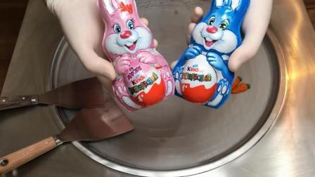 用小兔子巧克力做冰淇淋, 老板说这样能卖30元!