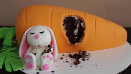 贪吃兔子翻糖蛋糕, 吃饱了就在胡萝卜旁边睡着了