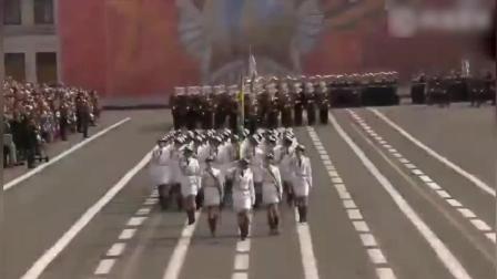 2017年俄罗斯红场阅兵, 女兵震摄来袭, 气质好, 腿长人美