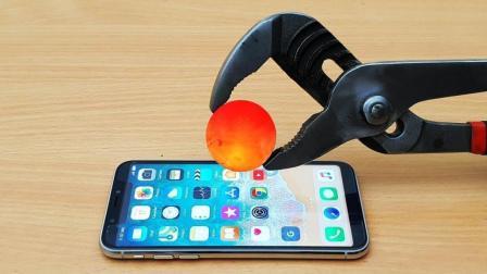 趣味实验, 1000度金属球与iPhoneX的抗衡, 结果会怎么样?