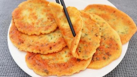 早餐饼最简单的做法, 手不沾面, 5分钟解决全家人早餐