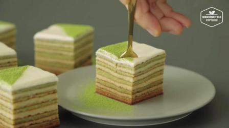 超治愈美食教程: 抹茶年轮蛋糕 Matcha Baumkuchen