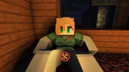 """【我的世界/短片】恐怖事件:ALEX与""""狼""""_Minecraft动画"""