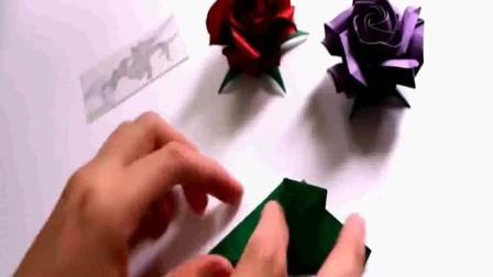 玫瑰花怎么折 酒杯玫瑰的折纸折法