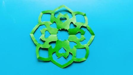儿童剪纸小课堂: 爱心团花, 动手动脑, 一学就会