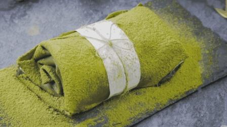 网红抹茶毛巾卷, 把千层蛋糕卷起来吃是什么感觉