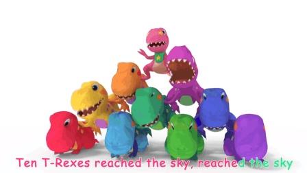 简单英文儿歌 慢速英文早教儿歌: T-rex Dinosaur Songs