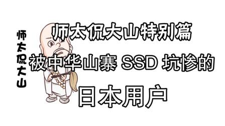 【师太侃大山特别篇】被中华山寨SSD坑惨的日本用户