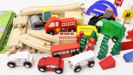 迷你小汽车工程车在轨道上行驶