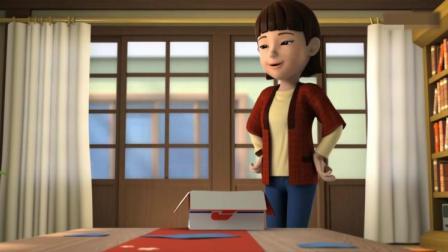 超级飞侠:里美想用纸折只猫陪虎介玩,有朋友也许会开心点!