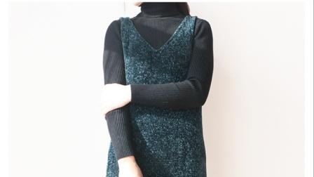 毛儿手作【雪尼尔长裙子】棒针毛线编织教程新手编织全教程