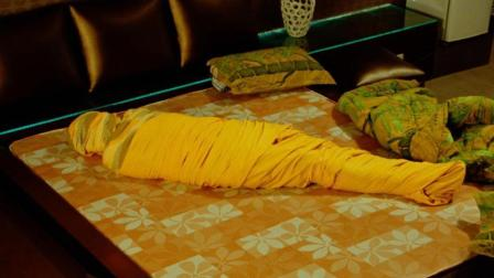 土豪被一个苍蝇折磨的苦不堪言, 干脆把自己裹成木乃伊, 全程搞笑