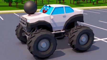 小汽车的足球玩具展示