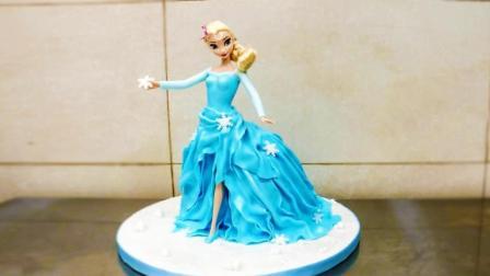 真实还原艾莎女王蛋糕, 这是我见过最美的, 没有之一!
