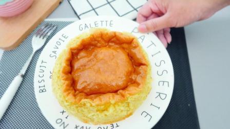 1分钟教你做网红半熟蛋糕, 最简单的原料和做法, 做出蓬松好吃的蛋糕