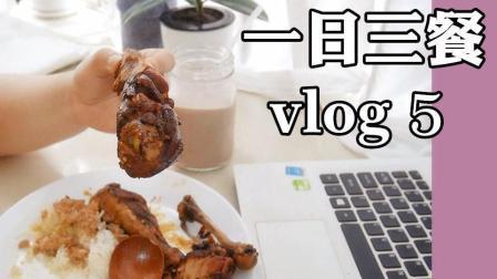 周六吃什么vlog5_琵琶大鸡腿|给狗子们做磨牙饼干【果平大儿yvonne】