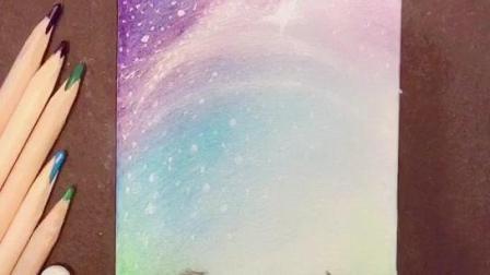 彩铅 星空绘画 第十一步