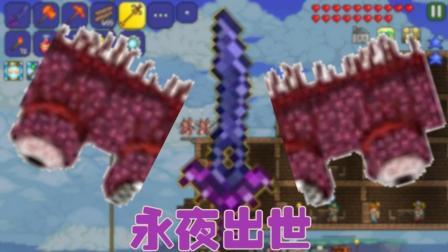 泰拉瑞亚1.3生存番外篇: 最强武器永夜之刃! 肉山必死