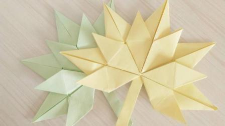 儿童折纸: 简单的折纸枫叶, 一款小朋友都能学会的组合折纸!