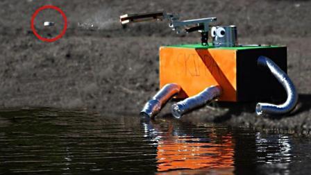 牛人自制打水漂机器人, 石头根本停不下来, 慢慢童年回忆!