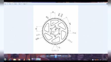 CAD机械实操之齿轮盘绘制