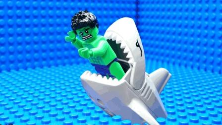 乐高鲨鱼攻击3, 绿巨人被鲨鱼吃了? LEGO玩具故事
