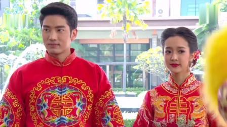 泰剧《技工新娘》男女主举行了盛大的中式婚礼, 这画风太喜庆了, 第一次在泰剧看到中式婚礼