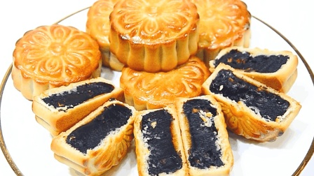 爱吃枣泥月饼一定要收藏, 教你一个专业广式做法, 比买的好吃多了