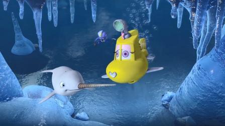 阿力被冰封住了,还好小伙伴帮助脱困,得救后的他向众人道歉