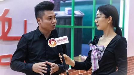 班花麻辣烫创始人冯明强先生接受前景加盟网采访