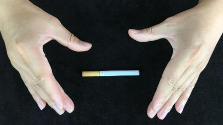 魔术教学 手不碰香烟 如何隔空移动香烟?