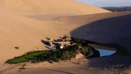 沙漠中的巨大绿洲, 相当于25个西湖, 堪称中国之最