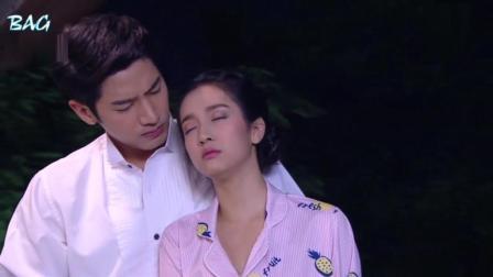 泰剧《技工新娘》新婚当晚, Mina半夜梦游要去阳台跳楼, 把男主吓得半死