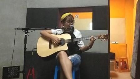辽阳大喆现代音乐培训学校 假期速成班学员李佩璇 吉他弹唱 好久不见