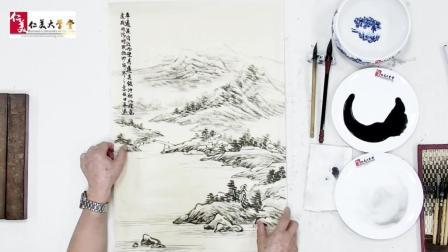 山水画中的平远透视竟这么简单, 原来以前是小编理解复杂了…