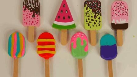 培乐多手工彩泥 DIY水果冰棒冰淇淋 宝宝爱吃的冷饮创意diy
