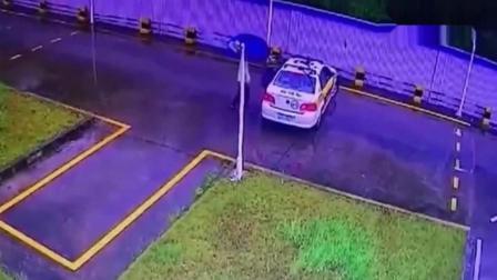 女子在驾校学车, 第一脚油门就闯下了大祸!