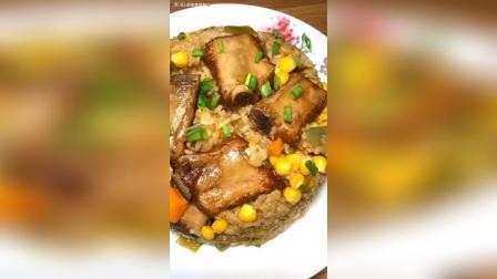 懒人排骨焖饭的做法