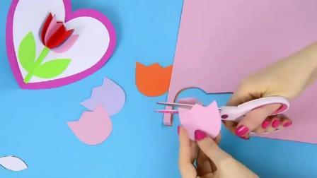 DIY手工制作立体玫瑰花, 好看制作方法简单!