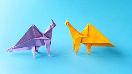折纸王子教你折纸简版翼龙, 简单易学, 动手动脑