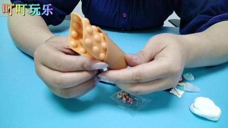 叮叮育儿玩具乐园 DIY手工制作仿真鸡蛋仔冰淇淋
