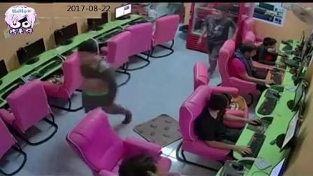 泰国一群小学生闯进网吧%网友全体下机, 监控直接拍下这种场面